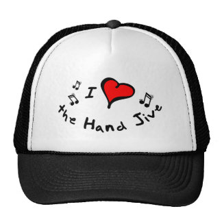 the Hand Jive I Heart-Love Gift Trucker Hat