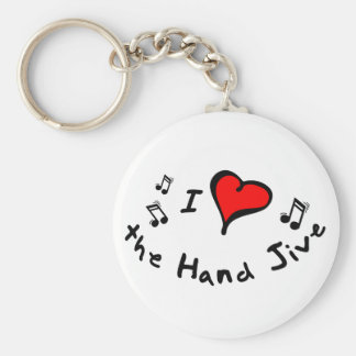 the Hand Jive I Heart-Love Gift Keychains