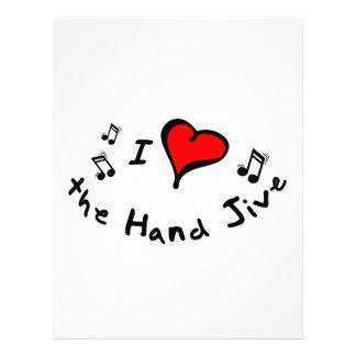 the Hand Jive I Heart-Love Gift Letterhead Design