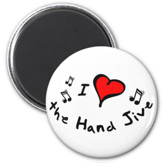 the Hand Jive I Heart-Love Gift Fridge Magnet