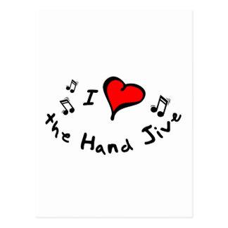 the Hand Jive I Heart-Love Gift Postcard