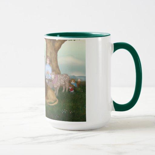 The Hand Knitted Peaceable Kingdom Mug