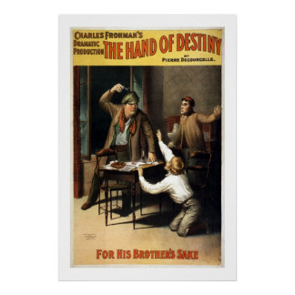 The Hand of Destiny Vintage Theater Poster