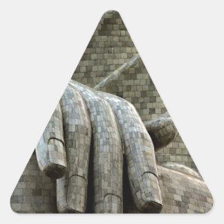 The hand of Stone Triangle Sticker