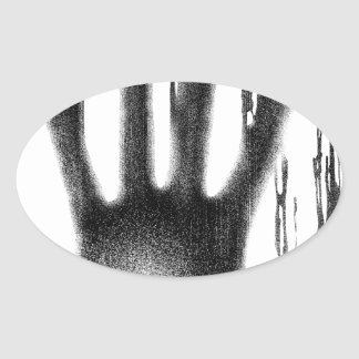 The Hand Oval Sticker