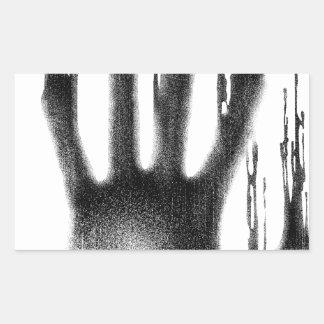 The Hand Rectangular Sticker