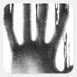 The Hand Square Sticker