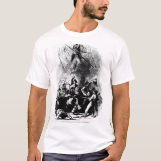 The hand-to-hand fight on the deck _War Image T-Shirt