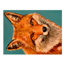 The handsome fox. postcard