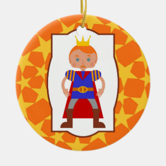 The handsome little  prince Double-Sided ceramic round christmas ornament