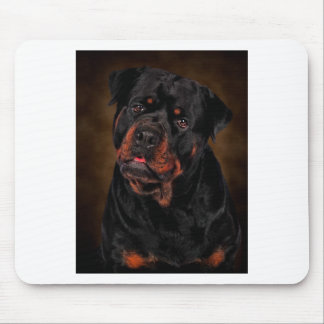 The Handsome Rottie Mouse Pad