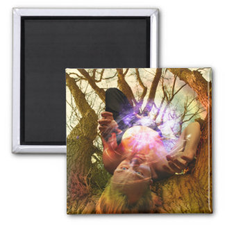 The Hanged Man Tarot Card Art 2 Inch Square Magnet