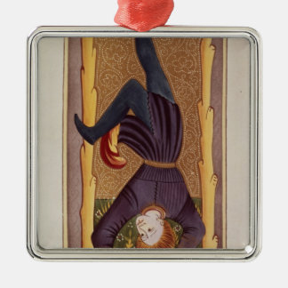 The Hanged Man, tarot card, French Metal Ornament
