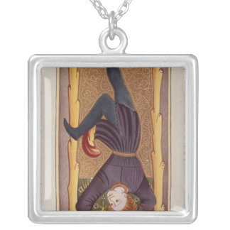 The Hanged Man, tarot card, French Silver Plated Necklace
