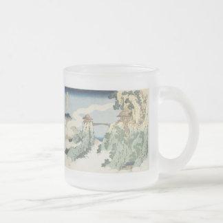 The Hanging Cloud Bridge, Hokusai, 1834 Mug