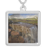 The Hanging Gardens at Logan Pass in Glacier Square Pendant Necklace