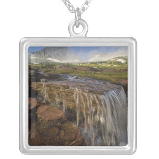 The Hanging Gardens at Logan Pass in Glacier Silver Plated Necklace