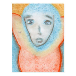 The Hanging Man, Art, Chalks Drawing Postcard