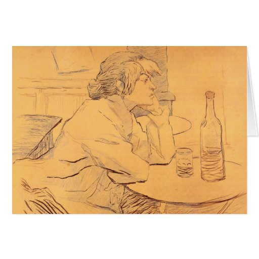 The Hangover by Toulouse-Lautrec Card