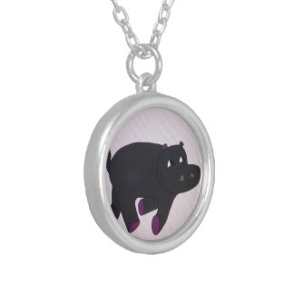 The Happiest of Hippos Necklace