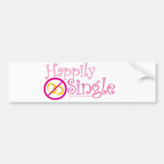 The Happily Single Collection by MDillon Designs Car Bumper Sticker