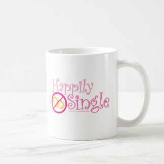 The Happily Single Collection by MDillon Designs Classic White Coffee Mug
