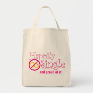 The Happily Single Collection by MDillon Designs Tote Bag