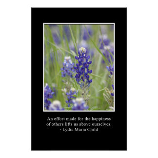 The happiness of others lifts us above ourselves poster