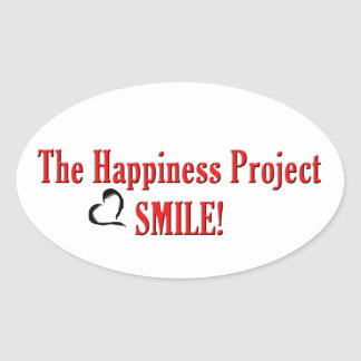 The Happiness Project: Smile! Oval Sticker