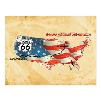 The happy America higway Postcard