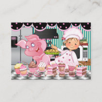 The Happy Chef / Caterer / Bakery - SRF Business Card