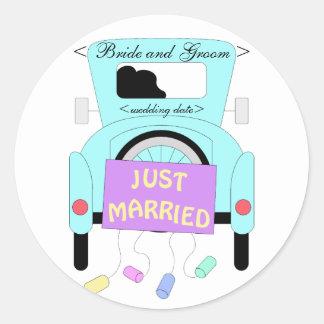 The Happy Couple Classic Round Sticker