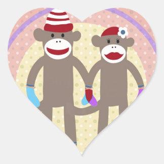 The Happy Couple. Heart Sticker
