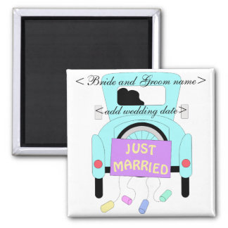 The Happy Couple 2 Inch Square Magnet