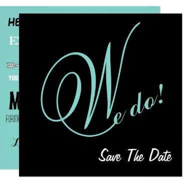 McTiffany Tiffany Aqua The Happy Couple We Do Save the Date Announcements