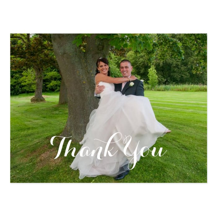 The Happy Couple Wedding Gift Thank You Postcard Zazzle