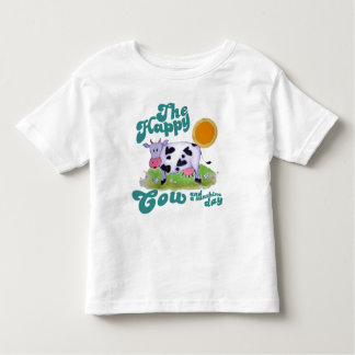 The happy cow toddler t-shirt