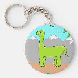 The Happy Dinosaur Basic Round Button Keychain