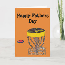 The Happy Fathers day disc golf greeting card