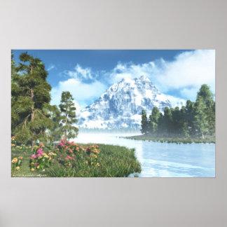 The Happy Lake prints Poster
