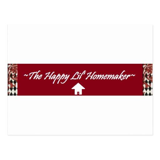 The Happy Lil' Homemaker Postcard