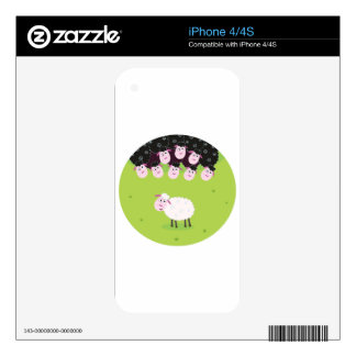 The happy little cute Sheeps Skin For iPhone 4