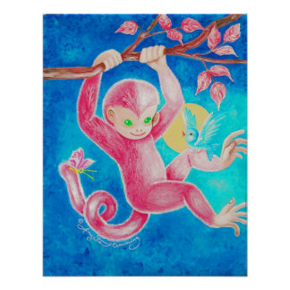 The Happy Little Monkey Posters