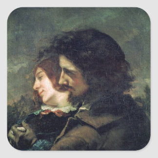 The Happy Lovers, 1844 Square Sticker
