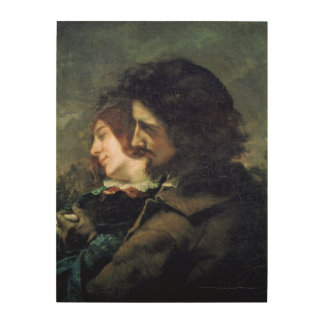 The Happy Lovers, 1844 Wood Print