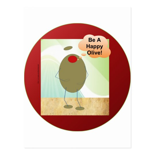 The Happy Olive Postcard