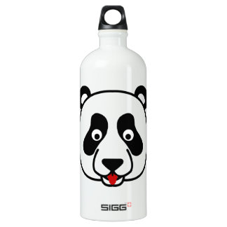 The Happy Panda Face Aluminum Water Bottle