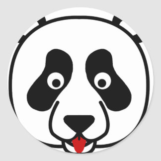The Happy Panda Face Classic Round Sticker