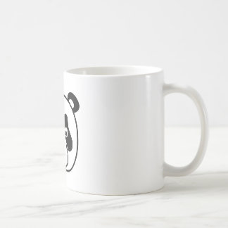 The Happy Panda Face Classic White Coffee Mug