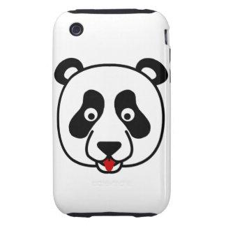 The Happy Panda Face iPhone 3 Tough Cases